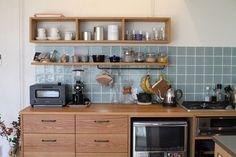 キッチン コーヒーカウンター キッチンタイル施工例