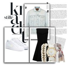 """Casual Schooling"" by samariapretty on Polyvore featuring Levi's, NIKE, Scialle and Charlotte Russe"