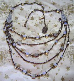 KONPLOTT Kette Marrakesch Boudoir white lightblue multi / antique bronce