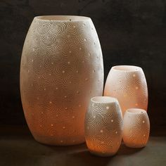 Lamps & Candle Holders - Oval Design all sizes