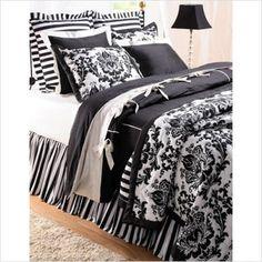 damask black and white