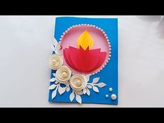 Diy Diwali Cards, Diwali Card Making, Diwali Greeting Cards, Diy Diwali Decorations, Diwali Greetings, Diwali Diy, Diy For Kids, Crafts For Kids, Teachers Day Card