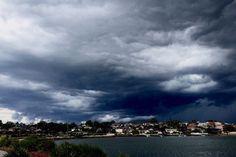 Storm over Kogarah Bay in Sydney's south, November 2015.