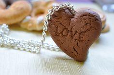 Collana Fimo Biscotto  -Biscotto Colazione in Italia-Collana Biscotto tè latte-Collezione Biscotto Gioielli-Insieme di Biscotti