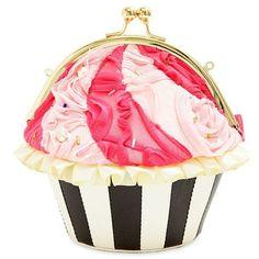 Betsey Johnson Fushia Cupcake Crossbody ($78) ❤ liked on Polyvore featuring bags, handbags, shoulder bags, fushia, betsey johnson handbags, pink cross body purse, betsey johnson purses, pink shoulder bag and pink purse