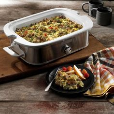 Slow Cooker Overnight Breakfast Casserole Recipe -Wake up relaxed, refreshed and ready to eat, with this great dish from Johnsonville. Let your favorite breakfast ingredients simmer and meld together overnight and you'll have the perfect morning meal ready whenever you wake up!—Brought to you by The Kitchen at <b>Johnsonville® Sausage</b>.