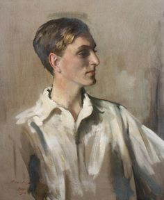 Sir Oswald Birley (British, 1880-1952) Portrait of Young Gentleman, signed and dated 'Oswald Birley/Aug 1923' (lower left) oil on canvas