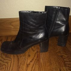 Mini heel boots Worn only a couple times!  2 and a half inch heels! Make offers! Shoes Heels