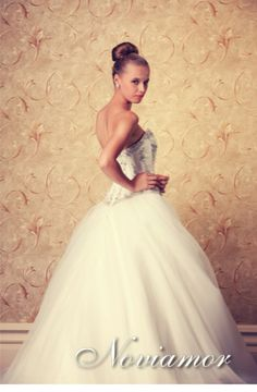Tulle Wedding Dresses, A line, Ballgown, Beaded, Princess Wedding Gown.