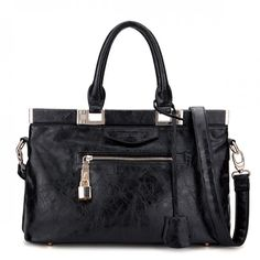 JSR Ladies' Handbag/Shoulder Bag - Black [170434] - $40.00
