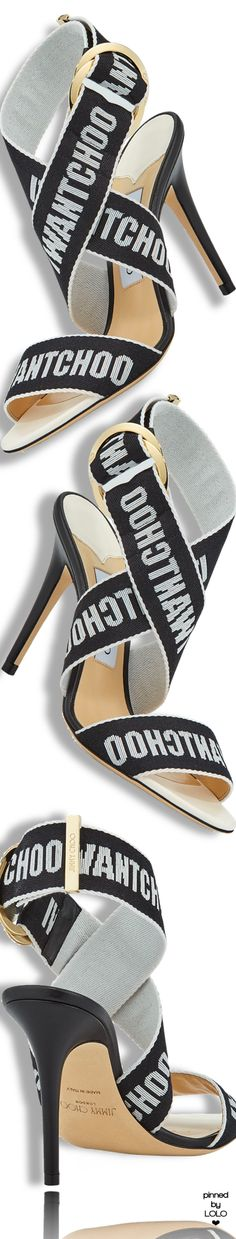 Jimmy Choo Bailey Logo-Web Sandal #jimmychoo