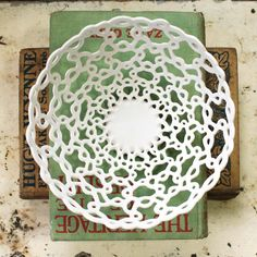 Carved Porcelain Woven Rope Bowl