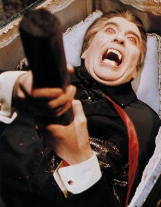Christopher Lee's Dracula meets his end...again.