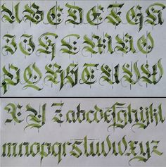 /r/Calligraphy is a community for people interested in the art of beautiful writing. Whether you've been writing for decades or are looking to. Gothic Lettering, Chicano Lettering, Graffiti Lettering Fonts, Lettering Styles, Tattoo Lettering Alphabet, Calligraphy Letters Alphabet, Font Alphabet, Letras Tattoo, Schrift Tattoos