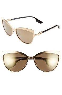 66d6da970af McQ by Alexander McQueen  Butterfly  60mm Stainless Steel Sunglasses