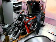MMI VROD Destroyer Clone on the Dyno at Motorcycle Mechanics Institute (MMI). www.mmitech.edu
