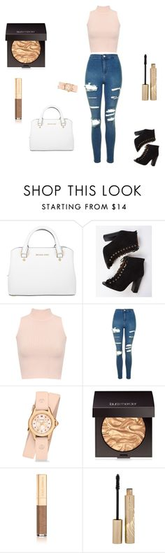 """Untitled #48"" by cas199 on Polyvore featuring Michael Kors, WearAll, Topshop, Michele, Laura Mercier, Dolce&Gabbana and Stila"