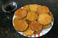 Como aperitivo o plato principal... Esta receta es fácil y super deliciosa! #Berenjena_frita_fácil #recetas #primeroplato #aperitivo #berenjena #frita #huevos #pan