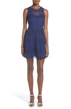 Frenchi Lace Illusion Skater Dress available at #Nordstrom