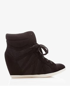 Mesh Paneled Wedge Sneakers | FOREVER21 - 2040914955