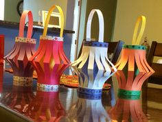 Diwali lanterns! Wanted to get my kids excited about Diwali ( festival of lights)!! What better way to do it. My kids had so much fun with this simple art project.