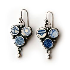 Tania Covo - pottery shards earrings