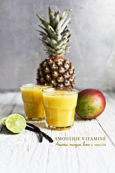 Une recette gourmande et brûle graisse? Je veuuuuxxx !!! Ingredients: (pour 2 personnes) 200 grammes d'ananas frais +1 mangue +1 citron vert +1 gousse de vanille +100ml de jus d'o…