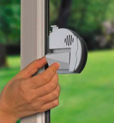 Safety: lock/alarm for sliding glass doors.