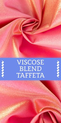 Italian Shimmer Viscose and Polyester Blend Taffeta (Made in Italy) Different Types Of Fabric, Kinds Of Fabric, B And J Fabrics, Textile Fabrics, Fabric Textures, Fabric Patterns, Fashion Terminology, Fashion Design Sketchbook, Fabric Board
