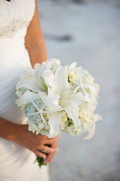 White amaryllis - Clearwater Beach Wedding from Karen Harrison Photography