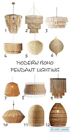 Home Decor Industrial Modern Boho Pendants I love a shoppable list of my favorite modern boho lighting.Home Decor Industrial Modern Boho Pendants I love a shoppable list of my favorite modern boho lighting