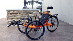 Catrike Villager G2 with SRAM XX1 components and fluorescent orange paint job - another Utah Trikes Custom #recumbent. Visit https://urbanbikeparts.com for incredibly cheap bike parts and accessories. FREE SHIPPING WORLDWIDE!