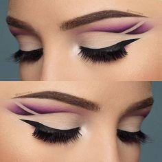 Amazing purple cut crease by @denitslava!