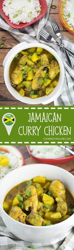 If you love Caribbean cuisine, this Jamaican Curry Chicken will make your taste buds tingle. It's spicy, it's comforting, it's everything you want a dish to be. Yum!
