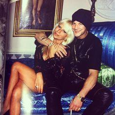 Donatella Versace and Mickey Rourke in Miami, 1993. Donatella was a beauty <3