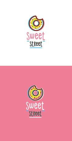 Sweet Street logo on Behance - Street Cake Logo Design, Bakery Design, Logo Branding, Branding Design, Donut Logo, Sweet Logo, Logo Minimalista, Baking Logo, Donuts