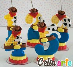 Discover recipes, home ideas, style inspiration and other ideas to try. Toy Story Cake Toppers, Number Cake Toppers, Toy Story Cakes, Number Cakes, Toy Story Birthday Cake, Toy Story Party, Bolos Toy Story, Fondant Numbers, Festa Toy Store