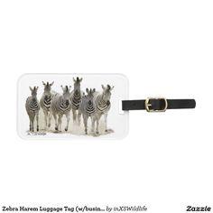 Zebra Harem Luggage Tag (w/business card slot) Travel Luggage, Luggage Bags, African Safari, Wildlife Photography, Travel Style, Slot, Business Cards, Tags, Gifts