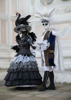 Venice Carnival 2014 - At San Zaccaria . the swans have arrived