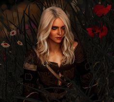 Geralt And Ciri, Ciri Witcher, Witcher Art, The Witcher Game, Witcher 3 Wild Hunt, Triss Merigold, Girls Anime, Character Portraits, Down Hairstyles