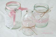 Windlichter, Vasen, Shabby Chic, Vintage-Hochzeit
