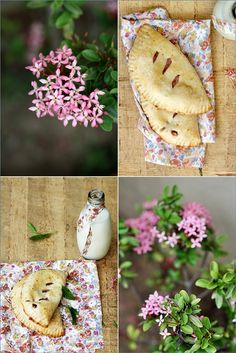 Apple Strawberry Basil Hand Pies by passionate about baking