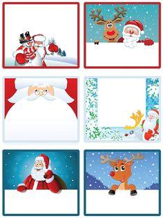 Imprime tus etiquetas de Navidad gratis para los regalos