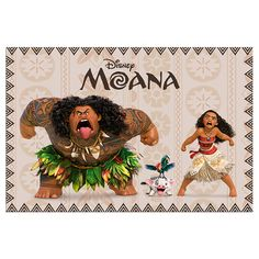 Moana, Maui, Pua and Heihei. They are so amazinggggggg! ( catch the movie quote;P )