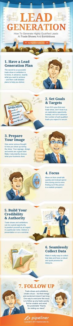How to Generate B2B Leads at Trade Shows #infografia #infographic #marketing