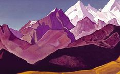 Sacred Himalayas, 1932 by Nicholas Roerich. Symbolism. landscape