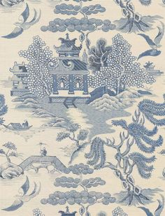 Lee Jofa Willow Lake Blue Wallpaper main image