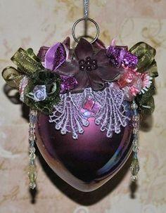Purple Cone Glass Victorian Ornament