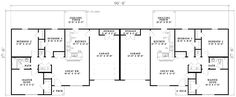 Three Bedroom Duplex - 59624ND | Architectural Designs - House Plans