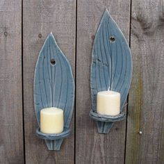 Handbuilt Hosta Clay/Pottery Wall Hanging Tall by StarLightClay, $23.00